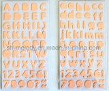 De veelkleurige Middelgrote Stickers van het Schuim van Alfabetten Perfect voor Scrapbooking en Papercrafts
