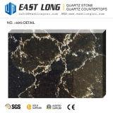 Surface solide de partie supérieure du comptoir de pierre de quartz conçue par couleur noire pour le panneau de mur /Homedecoration (SGS/CE)