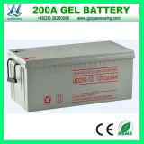 12V 200ah wartungsfreie Gel-Leitungskabel-Säure-Solarbatterie (QW-BG200A)