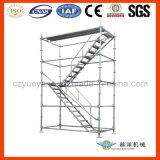 Escada de andaimes de alumínio com peso leve