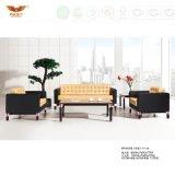 Sofà moderno di legno quadrato squisito grazioso dell'ufficio del tessuto (HY-NNH-S17)