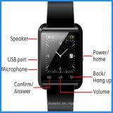2016 Venta caliente de la pantalla táctil U8 Smartwatch con Respuesta y marcar el teléfono Bluetooth Fotografía metros de altitud