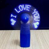 Programme personnalisé Mini USB LED clignotant lumière Ventilateur de message