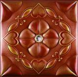China Suoya 1066-10 brillante panel de pared de cuero de PU