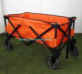 Carro de jardim resistente dobrável de acampamento de dobramento do frame de aço do vagão/carro