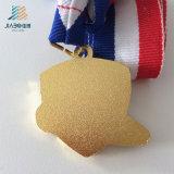 Medaglia di gioco del calcio del trofeo o del metallo di calcio del regalo di promozione dello smalto di colore rosso di abitudine 40mm