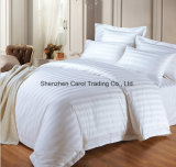 綿の縞模様のホテルのシーツの羽毛布団カバー寝具