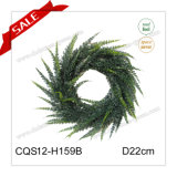 D22cm Arte de la pared Guirnalda de plástico de Navidad Artificial Flower Craft