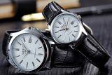 Il cuoio inossidabile di modo guarda classico casuale delle coppie dell'orologio il nuovo