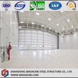 Hangar à pignon d'avions de bâti de lumière de structure métallique pour l'hélicoptère
