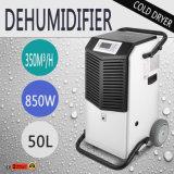 à faible bruit 50L portatifs réduisent le déshumidificateur industriel d'air d'humidité d'air