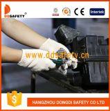Guanto nero di sicurezza dei puntini del PVC di Ddsafety 2017