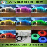 5050 RGB LED Strip Double Line / 22-24lm avec 2 ans de garantie / 110V / 220V