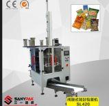 Máquina de empacotamento vertical multifunções de vedação traseira