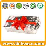 ترويجيّ هبة قصدير علبة, صفيحة مقصدرة وعاء صندوق, معدن قصدير صندوق