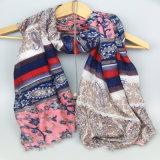 Sciarpa multicolore di stampa, scialli dell'accessorio di modo delle donne, sciarpe di svago