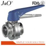 Válvula de borboleta sanitária de aço inoxidável 3PCS com alça de plástico