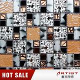 Klassisches chinesische Art-orange Kristallglas-Mosaik-Mischungs-Edelstahl-Muster
