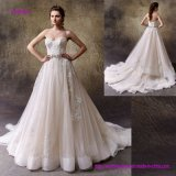 A mistura perfeita do romance clássico e do drama moderno A - linha vestido de casamento