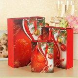Sacs de papier de luxe personnalisés de cadeau d'impression