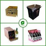 A caixa recicl do vinho do cartão introduz a fábrica