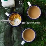 consommation quotidienne de tasse de thé de tasse d'émail de 9cm