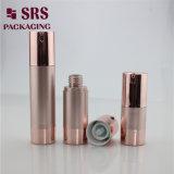 SRS vide Cosmétique 50ml Plastique Bouteille Airless or rose