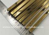 Calha de aço inoxidável do espelho 316 do ouro