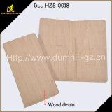 Бумажник крышки пасспорта подарка промотирования изготовленный на заказ деревянный
