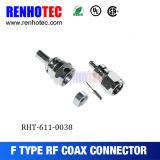 Conector de cable terminal masculino recto impermeable del prensado de F