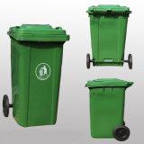 compartimientos de basura al aire libre rodados plástico multicolor barato 100L para la venta