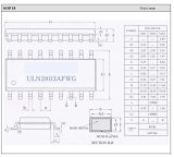 Alta corriente de alta tensión octal Darlingtontransistor Componentes electrónicos de la matriz