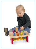 Brinquedo de madeira do banco de luxe do martelamento com malho