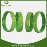 Wristband di gomma RFID della placchetta di silicio con il braccialetto di marchio di Debossed