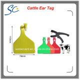 Tag de orelha plástico do gado do equipamento de exploração agrícola do fornecedor de China