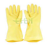 Масло защитных перчаток латекса желтых резиновый перчаток желтое упорное к кислоте и алкалиу упорным