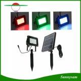 Напольные света потока СИД солнечные с 20 RGB СИД делают IP65 водостотьким для сада, патио, палубы, ландшафта, ярда, прихожей, гаража, крылечка, бассеина