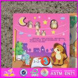 2016 Nouveau livre de puzzle en bois pour bébé créatif W14h002