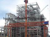 Almacén de acero de la estructura con los paneles del compuesto del cemento
