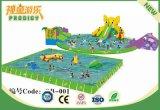 Parque inflable de lujo inflable del agua del parque de atracciones para el verano