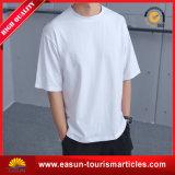 T-shirt en coton blanc hommes à col large