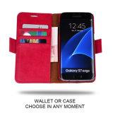 Samsung 은하 S8를 위한 진짜 가죽 지갑 상자를 막는 RFID2 에서 1 분리가능한