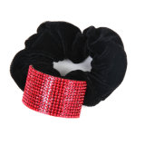 Scrunchie à cheveux en tissu avec strass