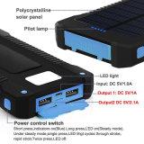 방수 태양 에너지 은행 10000mAh는 이동할 수 있는 태양 충전기 USB 이중으로 한다