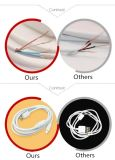 Pour iPhone Android Magnetic Ring USB Data Charging Cable