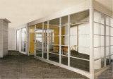 Cloison de séparation en verre en aluminium en bois de bureau moderne (NS-NW282)