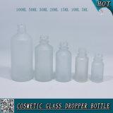 Garrafa de gotas de vidro com gotas de vidro com borracha colorida