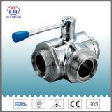 Válvula de bola de acero inoxidable sanitario con certificación 3A Ce ISO