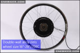 36V 500W Hub Motor Electric Bicycle Kit Frente 26 '' Wheel