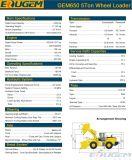 Eougem ZL50g 5tonne RC gem650 chargeuse à roues avec des pièces de rechange